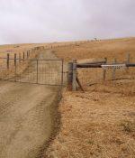 New gravel roadway entrance