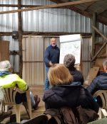 Presentation at workshop in shed